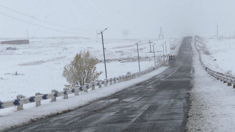 Հայաստանի որոշ մարզերում ձյուն է տեղում