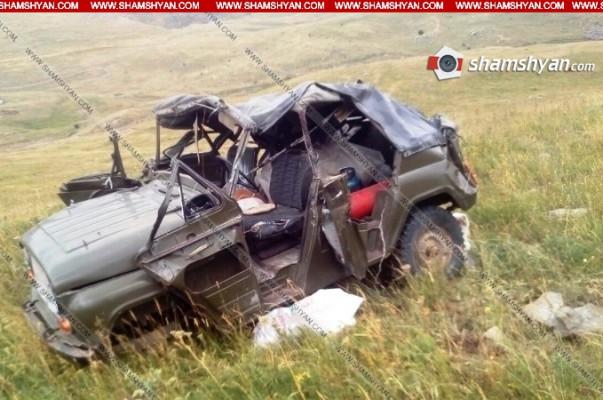 Արարատի մարզում մեքենան ընկել է ձորը. կան վիրավորներ