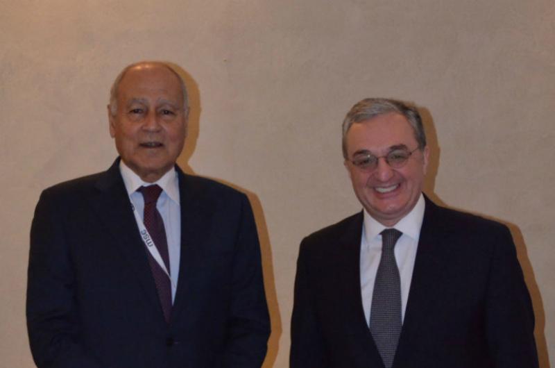 ԱԳ նախարար Զոհրաբ Մնացականյան և Արաբական պետությունների լիգայի գլխավոր քարտուղար Ահմեդ Աբուլ Ղեյտը քննարկել են 2 պետությունների հետագա փոխգործակցությունը