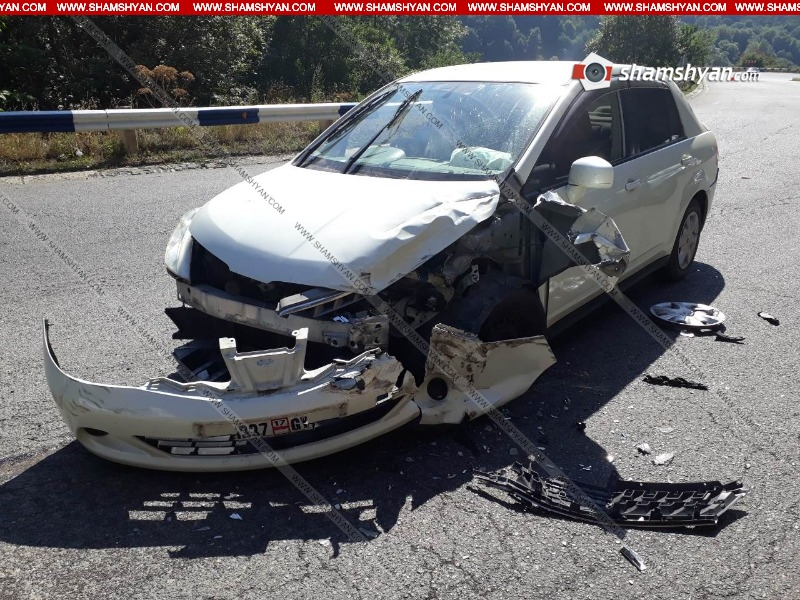 Տավուշի մարզում բախվել են УАЗ-ն ու Nissan-ը․ Թաիլանդի քաղաքացի է հոսպիտալացվել