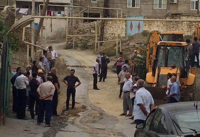 Ադրբեջանական գյուղում բողոքի ակցիաներ են (տեսանյութ)