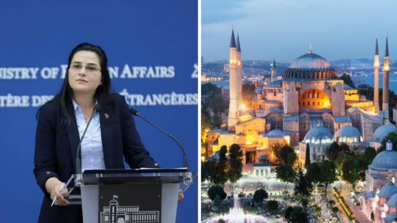 Մեզ խորապես մտահոգել է Սուրբ Սոֆիայի տաճար-թանգարանը մզկիթի վերածելու Թուրքիայի իշխանությունների որոշումը. ԱԳՆ խոսնակ