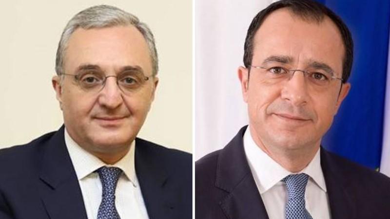 Հայաստանի և Կիպրոսի ԱԳ նախարարները քննարկել են հայ-ադրբեջանական սահմանին ստեղծված իրադրությունը