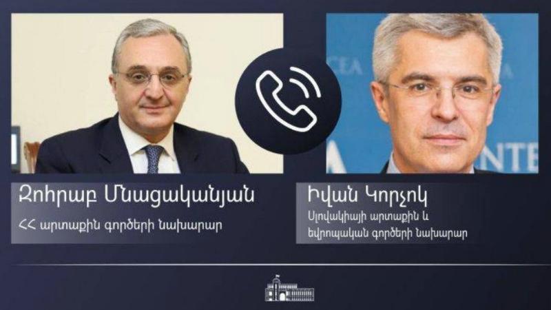 Զոհրաբ Մնացականյանի հեռախոսազրույցը Սլովակիայի արտաքին և եվրոպական գործերի նախարարի հետ