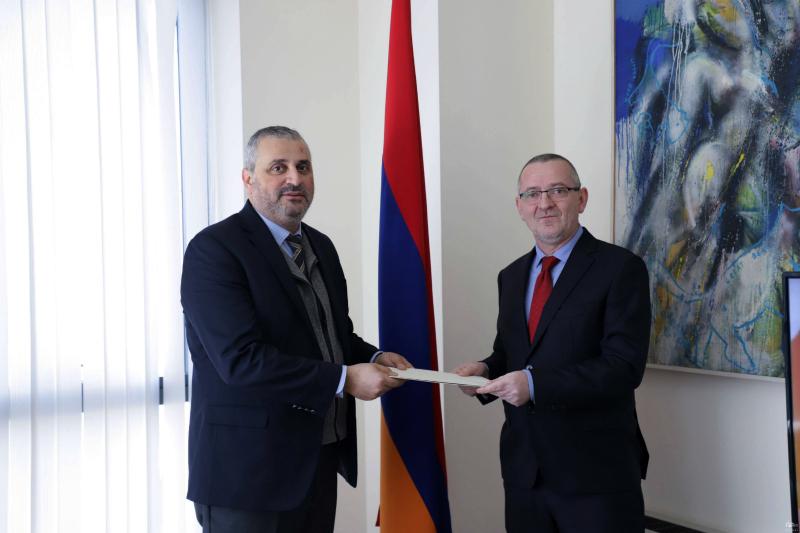 Սլովենիայի նորանշանակ դեսպանը և ՀՀ ԱԳ նախարարի տեղակալը քննարկել են հայ-սլովենական հարաբերություններին առնչվող հարցեր