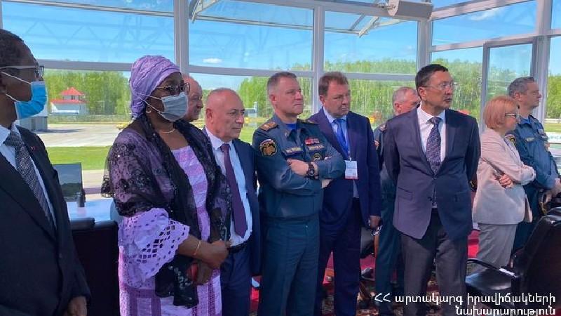 ԱԻ նախարարի պաշտոնակատարը ներկա է գտնվել «Համալիր անվտանգություն-2021»-ի շրջանակում ՌԴ-ում լայնածավալ ցուցադրական վարժանքին