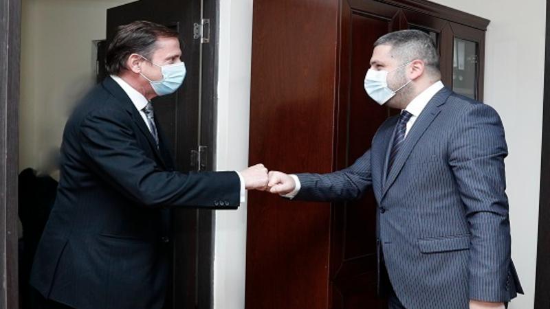 Արմեն Փամբուխչյանը և Ֆրանսիայի դեսպանության ներքին անվտանգության կցորդ Էրվե Ժամենը քննարկել են համագործակցության ծրագրեր