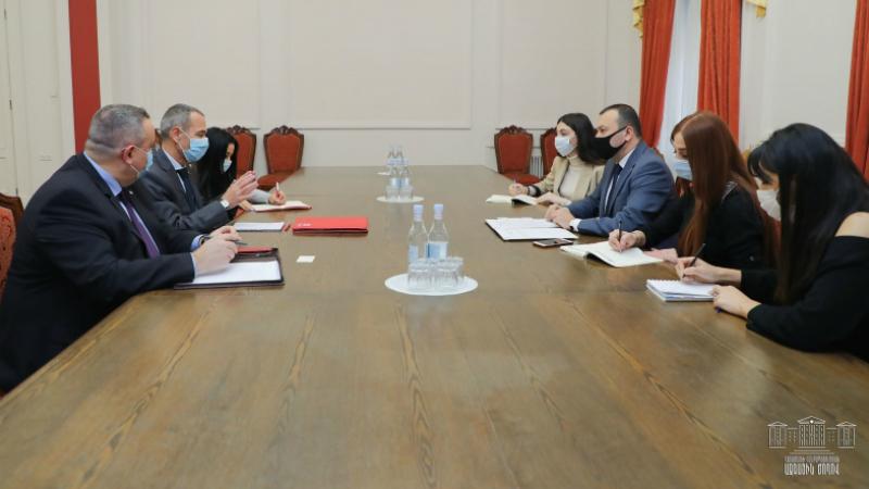 ՀՀ ԱԺ փոխնախագահը հանդիպել է Հայաստանում Կարմիր խաչի միջազգային կոմիտեի պատվիրակության ղեկավարի հետ