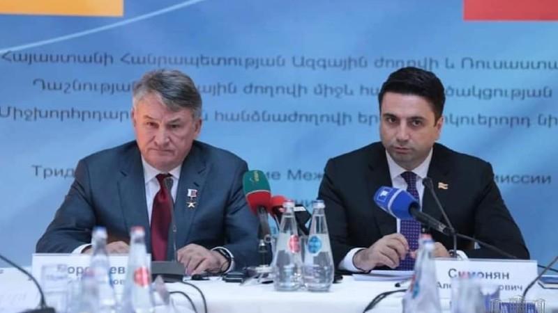 Ալեն Սիմոնյանը հեռախոսազրույց է ունեցել Ռուսաստանի Դաշնության ԴԺ Դաշնության խորհրդի նախագահի տեղակալ Յուրի Վորոբյովի հետ