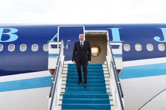Իլհամ Ալիևը Թուրքիայի նախագահ Էրդողանի հրավերով այսօր ժամանել է Ստամբուլ