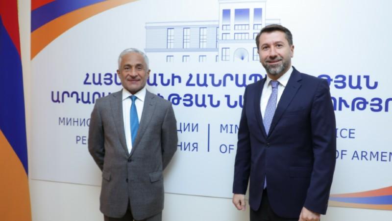 Արդարադատության նախարարի հրավերով Հայաստան է ժամանել Արաբական Միացյալ Էմիրությունների Վերահսկիչ պալատի նախագահը