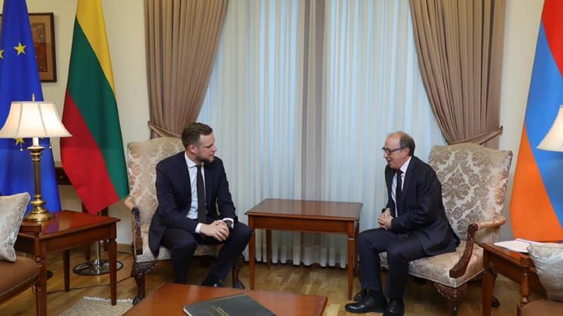 Մեկնարկել է Հայաստանի և Լիտվայի ԱԳ նախարարների առանձնազրույցը