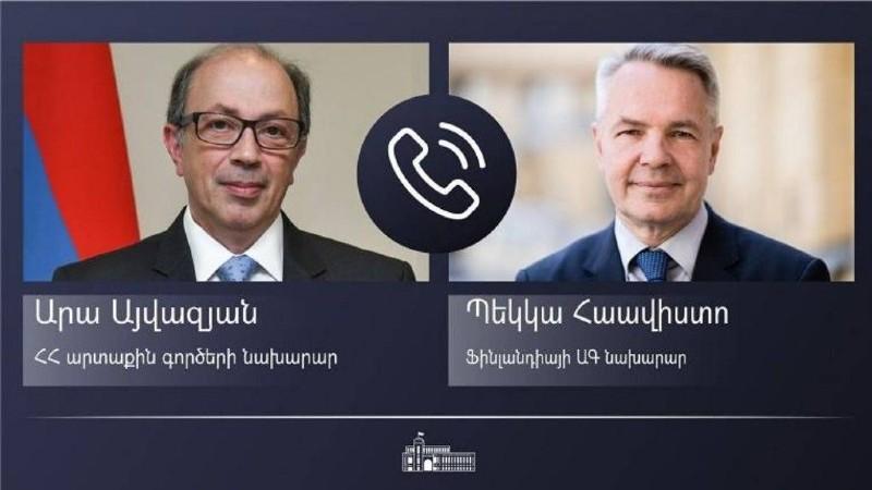 ՀՀ և Ֆինլանդիայի ԱԳ նախարարները հեռախոսազրույց են ունեցել