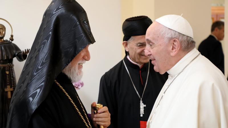 Արամ Ա Կաթողիկոսը հանդիպել է Հռոմի պապին