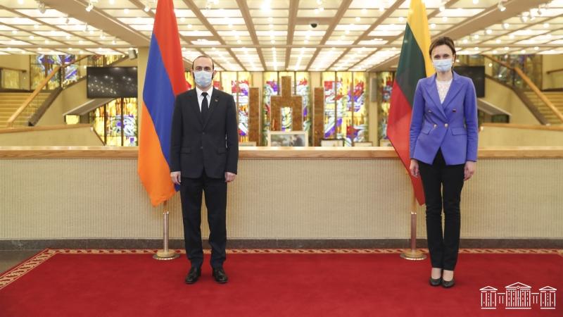 Ադրբեջանը շարունակում է կոպտորեն խախտել նոյեմբերի 9-ի եռակողմ հայտարարությունը. Արարատ Միրզոյանը` Լիտվայի Սեյմասի նախագահին