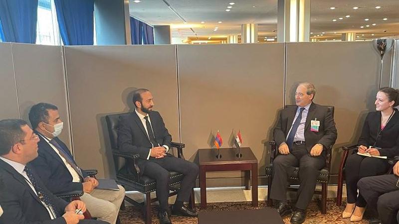 Հայաստանի և Սիրիայի ԱԳ նախարարները խիստ մտահոգություն են հայտնել Արցախի դեմ սանձազերծված ագրեսիայի ընթացքում Ադրբեջանի կողմից Սիրիայից վարձկան ահաբեկիչների ներգրավման առնչությամբ