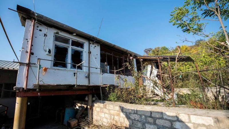 Ադրբեջանի զինված ուժերի հրետակոծության հետևանքները Սարուշեն և Խաչմաչ գյուղերում (լուսանկարներ)