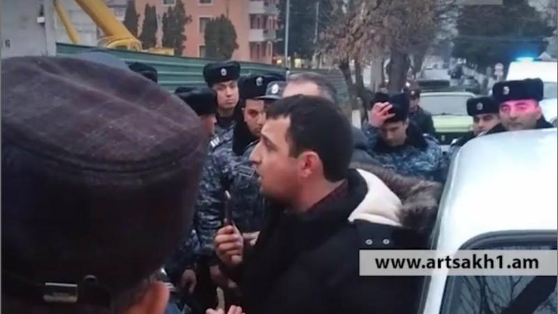 Բողոքի ակցիա Արցախում․ կան բերման ենթարկվածներ (տեսանյութ)