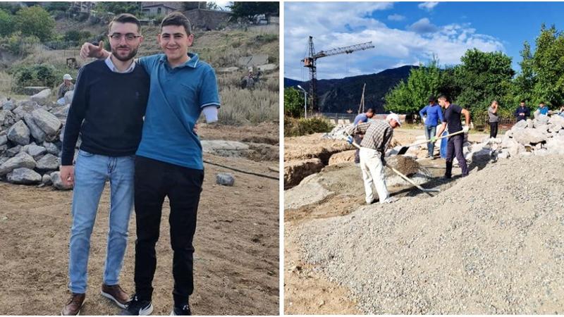Մեկնարկել է 44-օրյա պատերազում երկու ձեռքը կորցրած Կարեն Խլոպուզյանի առանձնատան շինարարությունը.  Արեն Մկրտչյան