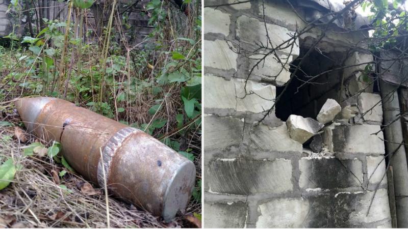 Չինարի գյուղում հայտնաբերվել է հակառակորդի արձակած 122մմ տրամաչափի Դ-30 հրետանային արկ (լուսանկարներ)
