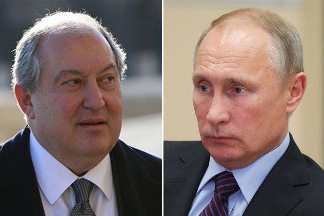 Նախագահ Սարգսյանն ու Վլադիմիր Պուտինը հեռախոսազրույց են ունեցել. քննարկվել է Հայաստանում ստեղծված իրավիճակը
