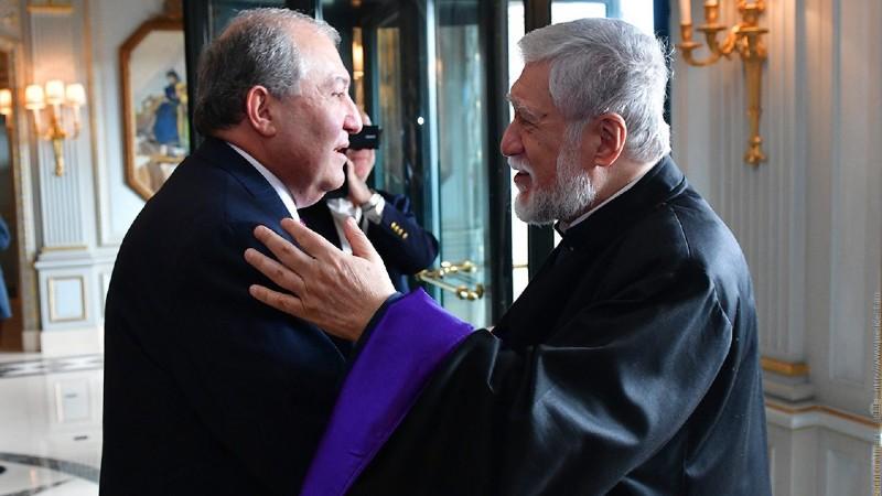 Արամ Ա կաթողիկոսը շնորհավորական ուղերձ է հղել ՀՀ նախագահ Արմեն Սարգսյանին