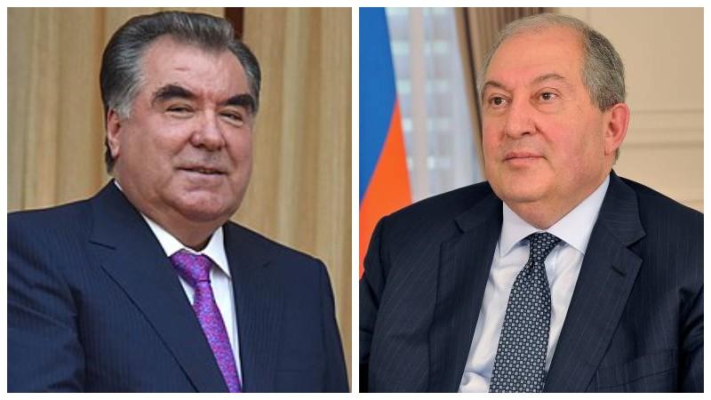 Համոզված եմ, որ հայ-տաջիկական բարեկամական հարաբերությունները հետագայում ևս կզարգանան և կբազմապատկվեն․ Արմեն Սարգսյանին շնորհավորել է Տաջիկստանի նախագահը