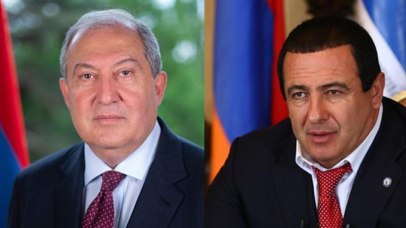 Արմեն Սարգսյանը հանդիպել է Գագիկ Ծառուկյանի հետ