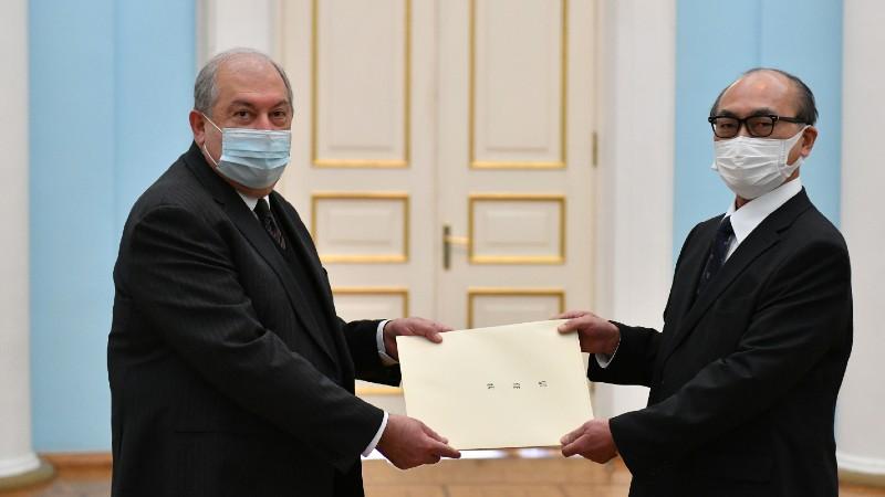 Արմեն Սարգսյանին հավատարմագրերն է հանձնել Հայաստանում Ճապոնիայի դեսպանը (տեսանյութ)
