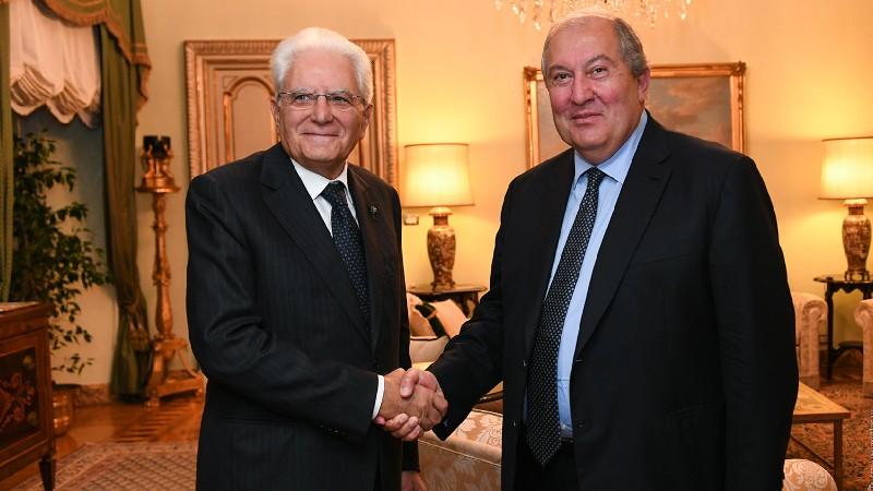 Մեկնարկել է Հայաստանի և Իտալիայի նախագահների հանդիպումը