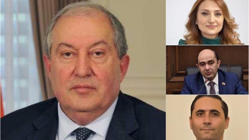 Արմեն Սարգսյանը հանդիպումներ է ունեցել Լիլիթ Մակունցի, Էդմոն Մարուքյանի, Արման Աբովյանի հետ