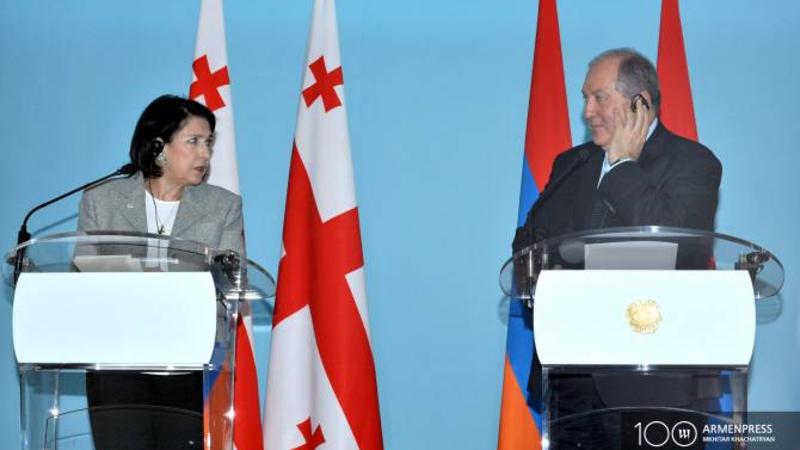 ԼՂ հակամարտության կարգավորման հարթակ լինելու Վրաստանի առաջարկն ուժի մեջ է. Սալոմե Զուրաբիշվիլին՝ Արմեն Սարգսյանին