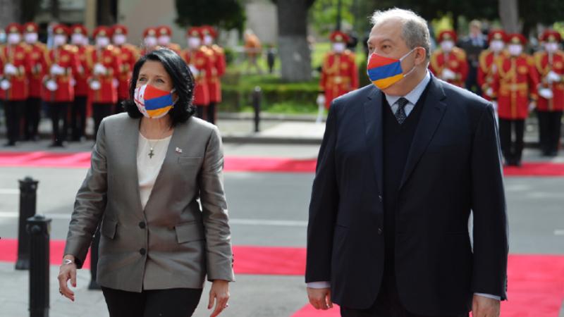 Վրաստանի նախագահի նստավայրում տեղի է ունեցել ՀՀ նախագահի դիմավորման պաշտոնական արարողությունը (լուսանկարներ, տեսանյութ)