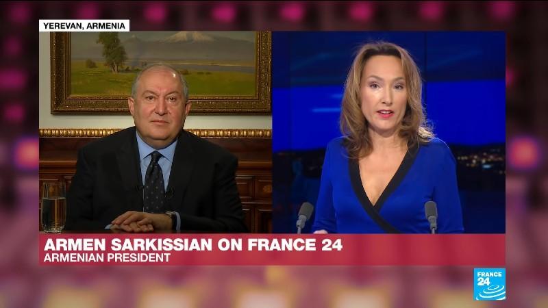 Ե՞րբ է միջազգային հանրությունը ճնշում գործադրելու Թուրքիայի վրա, որպեսզի այդ երկիրը դուրս գա այս հակամարտությունից. նախագահը` France 24-ին (տեսանյութ)