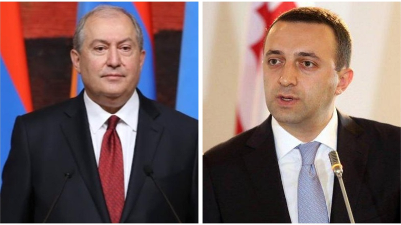 Արմեն Սարգսյանը շնորհավորական ուղերձ է հղել Վրաստանի վարչապետ Իրակլի Ղարիբաշվիլիին