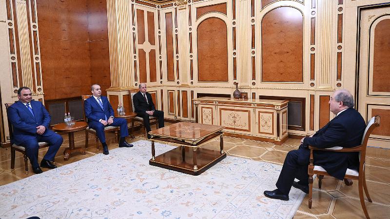 Արմեն Սարգսյանն ընդունել է ՀՀ ոստիկանության, ԱԱԾ և ՊՊԾ ղեկավարներին