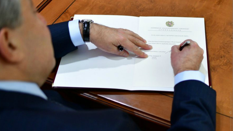 Արմեն Սարգսյանը ստորագրել է «Վարձկանների հավաքագրման, օգտագործման, ֆինանսավորման և ուսուցման դեմ» միջազգային կոնվենցիան վավերացնելու մասին օրենքը