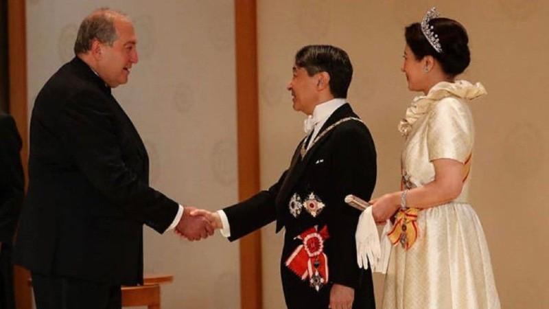 Արմեն Սարգսյանն Ազգային տոնի առթիվ շնորհավորել է Ճապոնիայի կայսերը