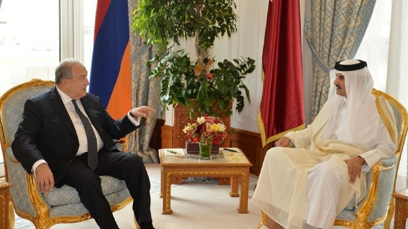 Արմեն Սարգսյանը շնորհավորել է Կատարի էմիրին