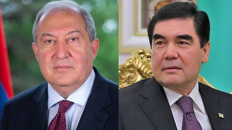 Հայաստանի Անկախության 30-ամյակի առթիվ նախագահ Արմեն Սարգսյանին շնորհավորել է Թուրքմենստանի նախագահը