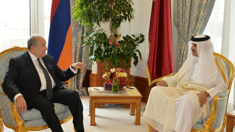 Արմեն Սարգսյանը Կատարի Էմիրին տեղեկացրել է Ադրբեջանի կողմից ԼՂ նկատմամբ սանձազերծած նոր պատերազմի և ներկա իրավիճակի մասին