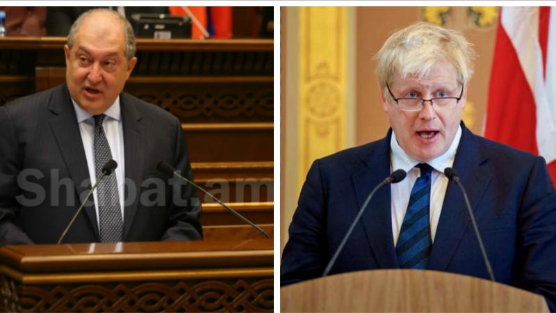 Արմեն Սարգսյանը նամակ է հղել Մեծ Բրիտանիայի վարչապետին․ նախագահը Ջոնսոնին մաղթել է շուտափույթ ապաքինում