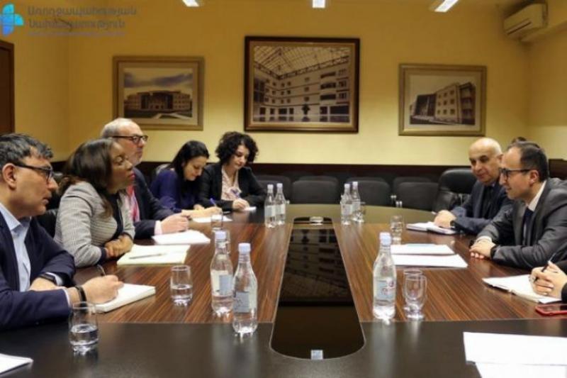 Արսեն Թորոսյանը Համաշխարհային բանկի պատվիրակության հետ քննարկել է առողջության ապահովագրության ներդրման օրակարգը
