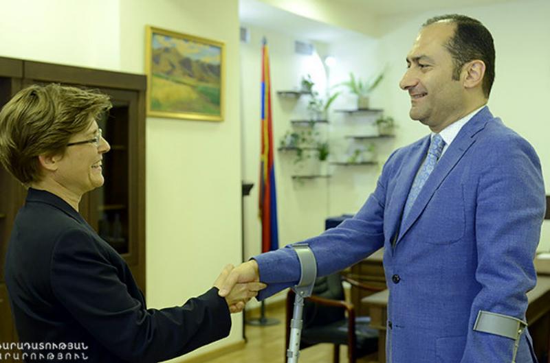 Արդարադատության նախարարը և GIZ հայաստանյան գրասենյակի ներկայացուցիչներն անդրադարձել են նոտարական ոլորտի բարելավման հարցերին
