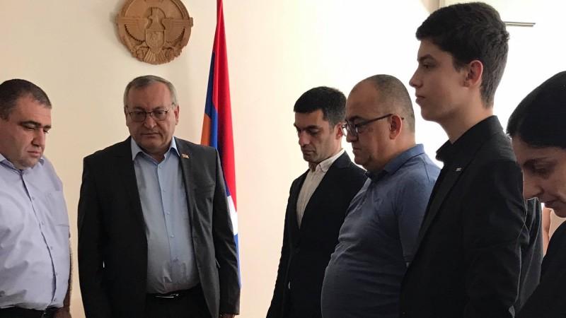 Արցախի ԱԺ նախագահ Արթուր Թովմասյանն աշխատանքային այցով Հայաստանում է