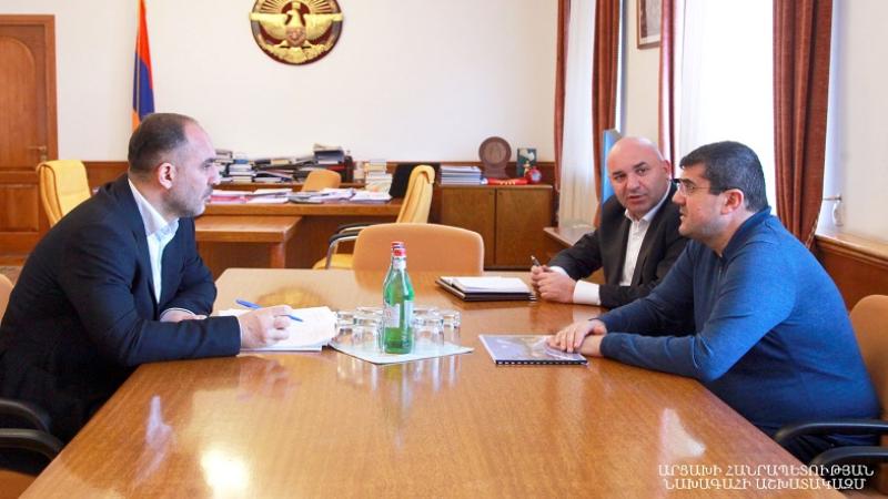 «Հայաստան» հիմնադրամն Արցախում նոր ծրագրեր է սկսում. ԱՀ նախագահն ընդունել է կառույցի ներկայացուցչին