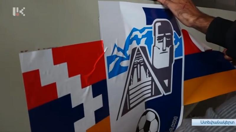 Արցախի պատանի ֆուտբոլիստների ավտոբուսի քերված դրոշը փոխարինվել է նորով (տեսանյութ)