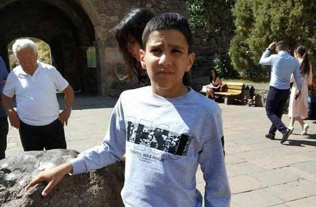Հայտնաբերվել է որպես անհետ կորած որոնվող 12-ամյա Արթուր Մարտիրոսյանի դին