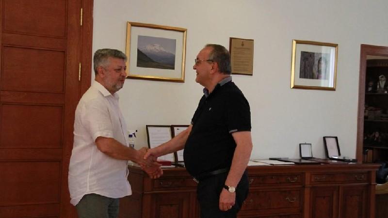 ԱՀ ԱԺ նախագահը ընդունել է ՌԴ-ում Արցախի մշտական ներկայացուցիչ Ալբերտ Անդրյանին