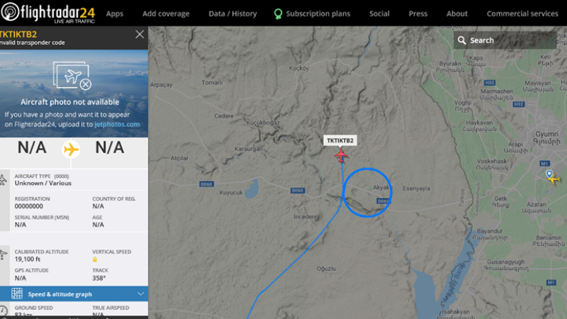 Թուրքական ԱԹՍ-ն ՀՀ սահմանի երկայնքով շրջանաձև թռիչքներ է կատարել․ Razm.Info-ն հայտնում է թարգմանչական սխալի մասին